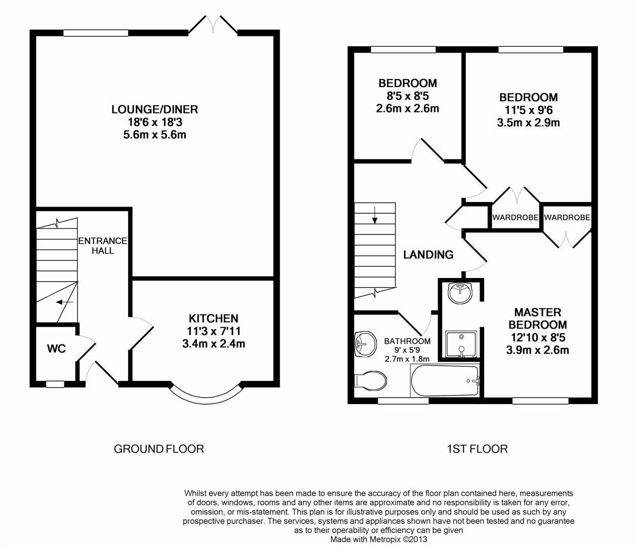 Floorplan for Tanbridge Place, Horsham